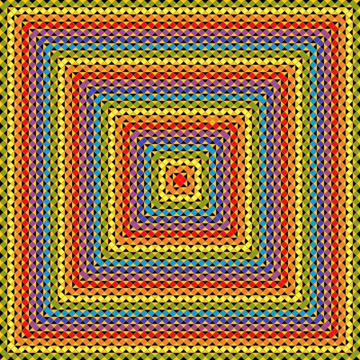 Organised chaos geometric art print - Art Geometrix