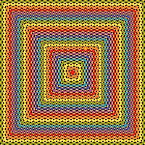 Organised chaos geometric art print