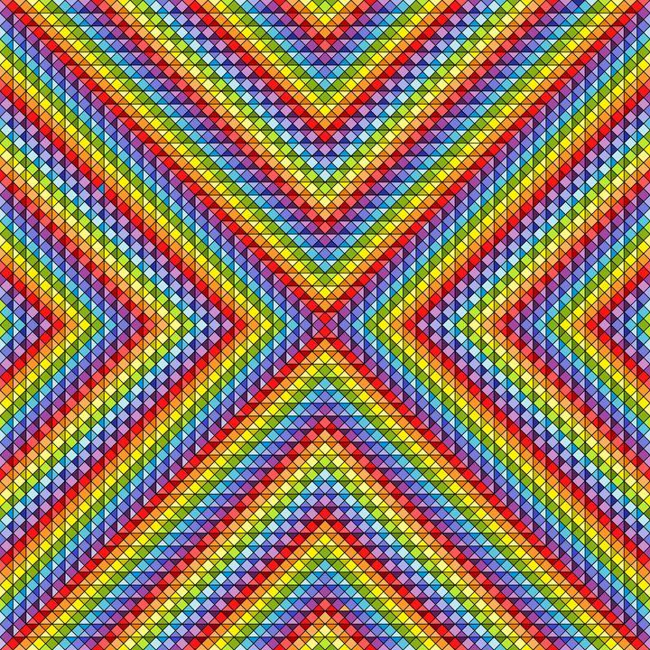 Many shades geometric art print - Art Geometrix