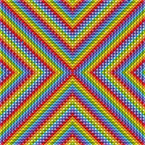 Many shades geometric art print