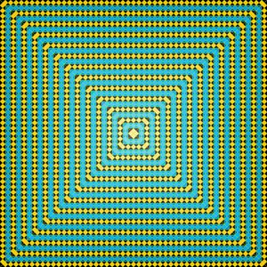 Subtle glow geometric art print