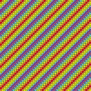 Conveyor blast off geometric art