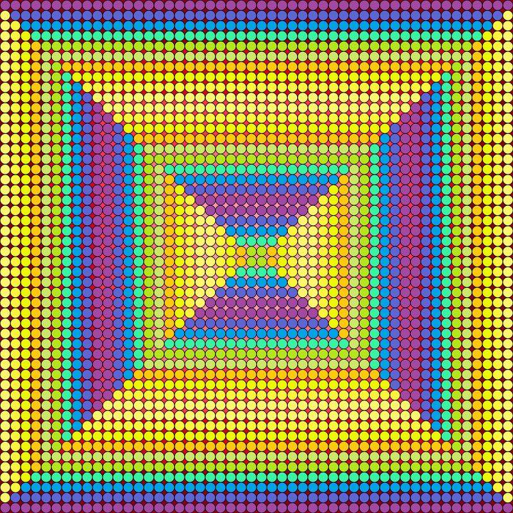 Main entrance geometric art print - Art Geometrix
