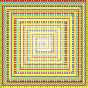 Strange times geometric art print