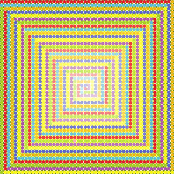 Strange times geometric art print - Art Geometrix