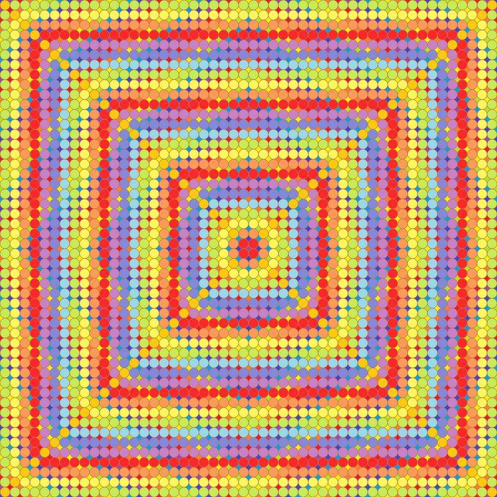 Show of strength geometric art print - Art Geometrix