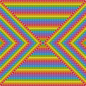 Rock and roll geometric art print