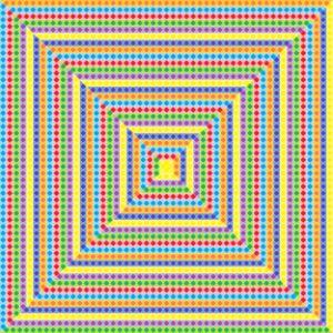 Cranky geometric art print