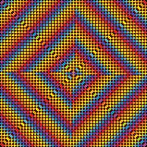 Warping effect geometric art print