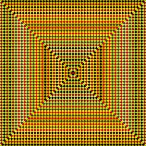 Gold standard geometric art print