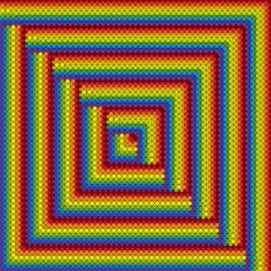Interlocking geometric art print