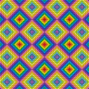 Patches of grace geometric art print