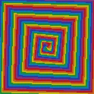 Visual therapy mosaic art print