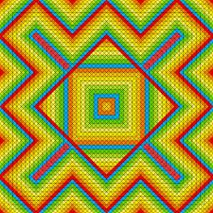 Aztec style geometric art print
