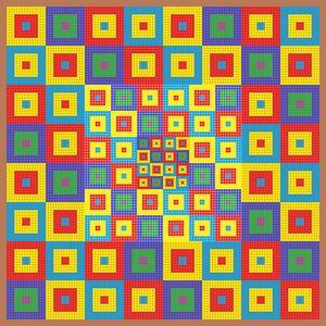 Square nation geometric art print