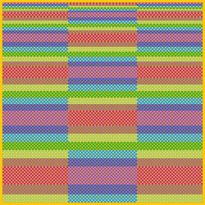 Order of appearance mosaic art print