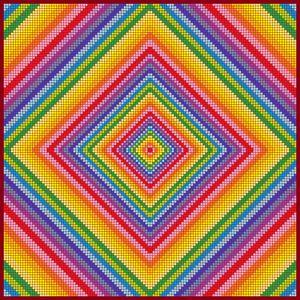 Good vibrations mosaic art print