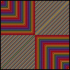 Converging points mosaic art print
