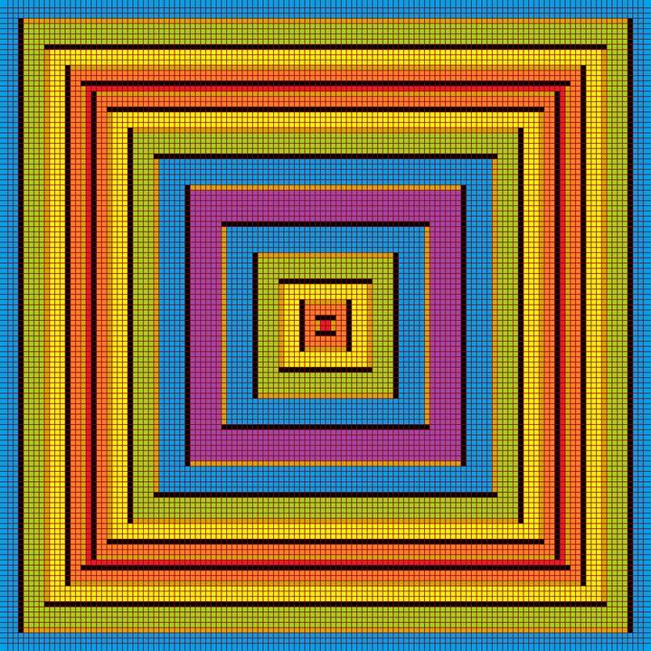 Practical abstraction mosaic art - Art Geometrix