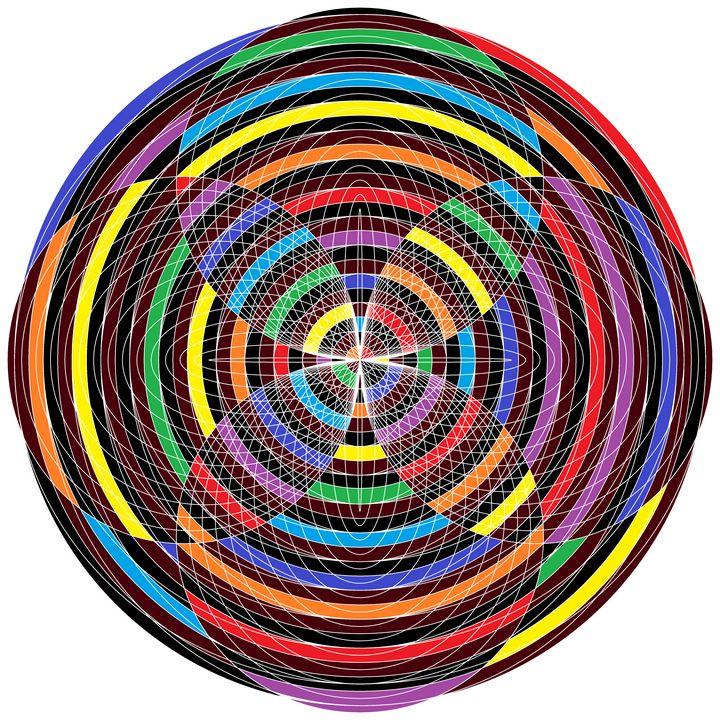 Ultimate hive geometric art print - Art Geometrix