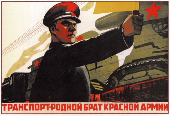 Transport is the brother of the Red - Soviet Art
