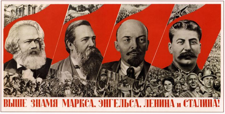 Hold up high banners of Marx, Engels - Soviet Art