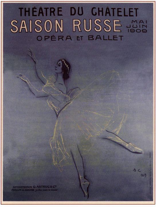 The touring poster of A. Pavlova in - Soviet Art