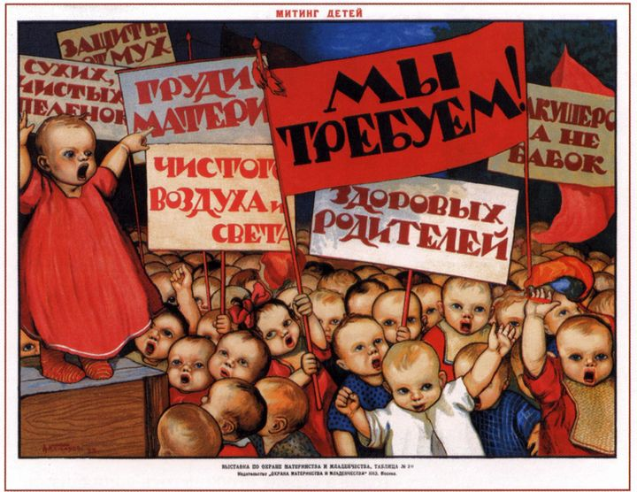 Children Meeting - Soviet Art