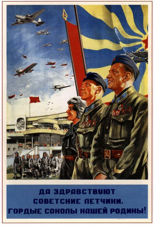 Long live to the Soviet pilots, prou - Soviet Art