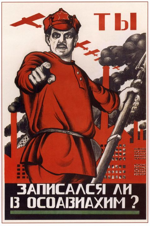 Have you joined OSOAVIAHIM? - Soviet Art