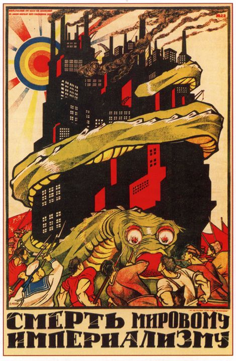 Death to World of Imperialism - Soviet Art