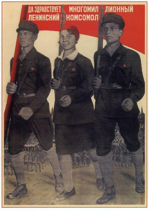 Long live the multimillion Leninist - Soviet Art