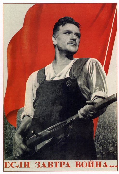 If the war starts tomorrow... - Soviet Art