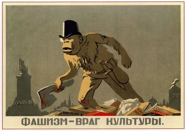Fascism is the enemy of culture - Soviet Art