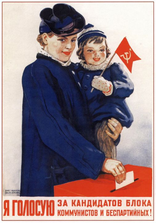 I vote for the communistic candidate - Soviet Art
