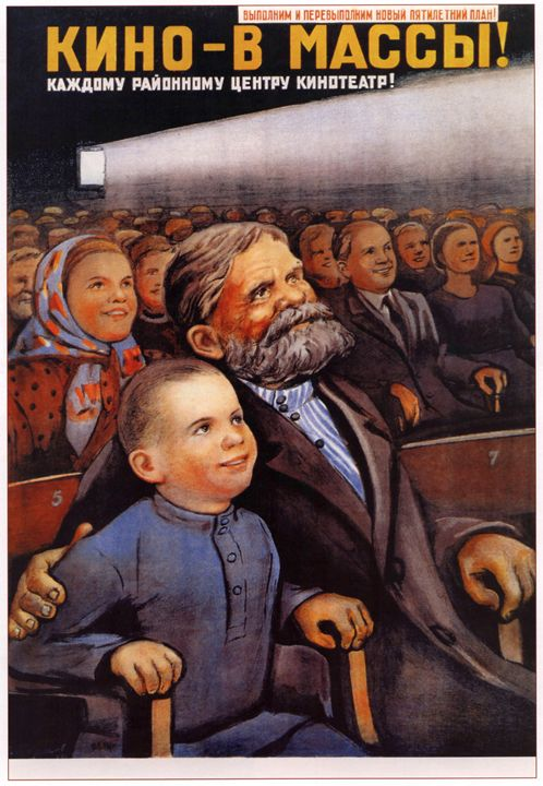 Bring cinema to the masses! - Soviet Art