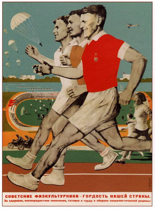 Soviet athletes is the pride of our - Soviet Art
