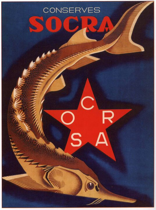 "Canned Sturgeon ""Socra"" - Soviet Art"