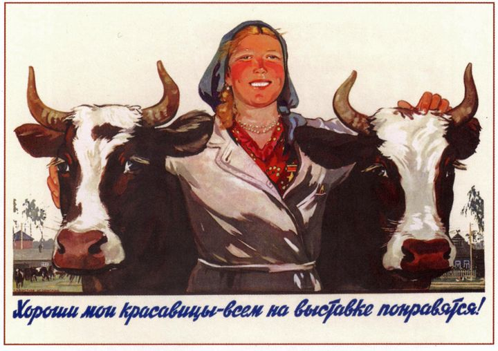 My beauties are the best! They will - Soviet Art