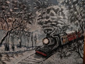Train journey home for Christmas