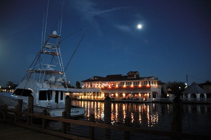 Full Moon over Shem Creek - Lisa M. Moore