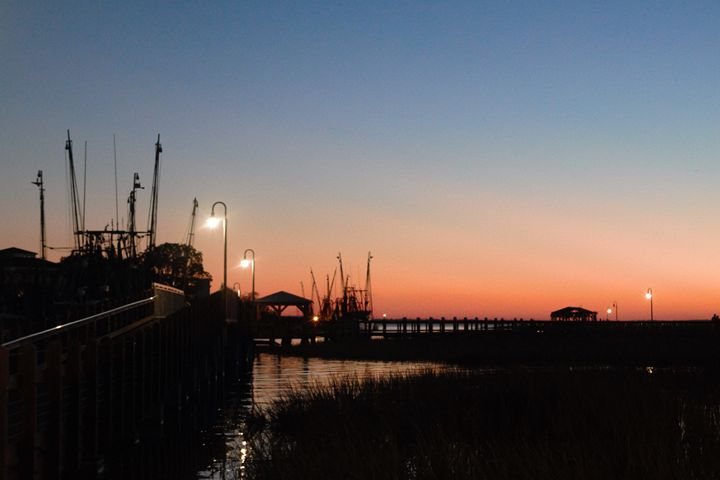 Sunset at Shem Creek - Lisa M. Moore