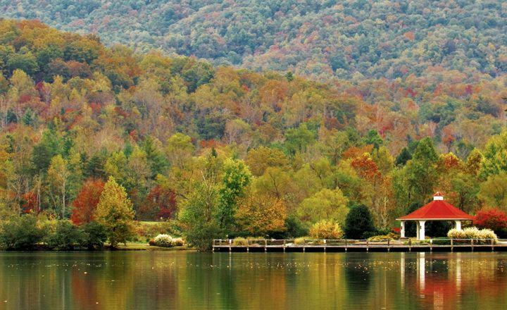 Autumn on Lake Lure - Lisa M. Moore