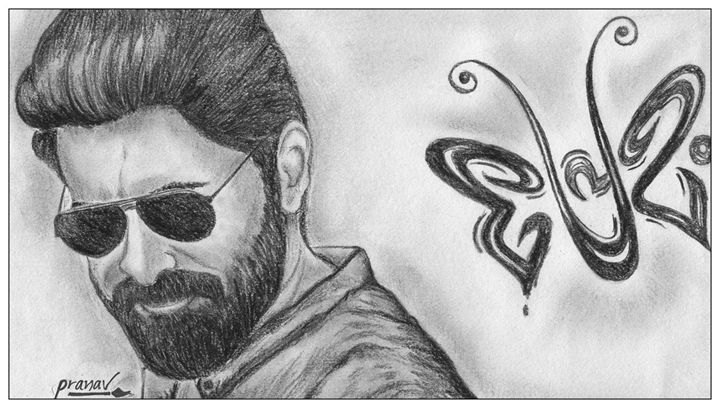 Malayalam Actor Nivin Pauly Pranave Prabhakar Drawings Illustration People Figures Celebrity Actors Artpal