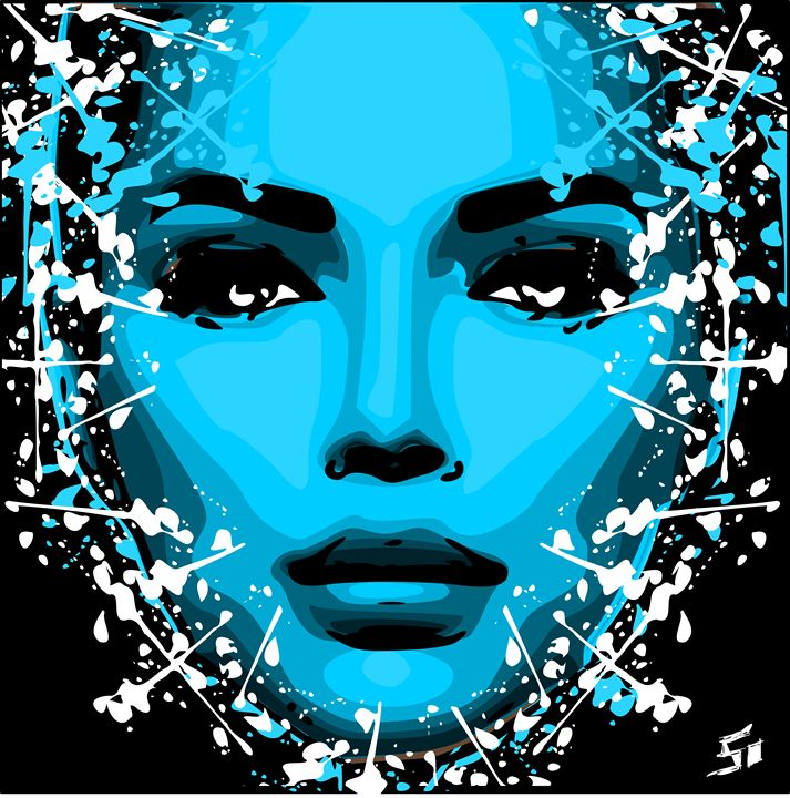 blue women futur - Looney art