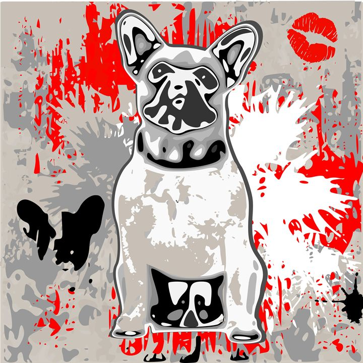 french bulldog - Looney art