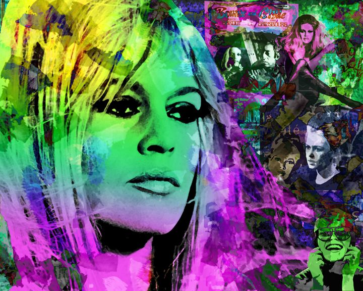 Brigitte Bardot original - Looney art