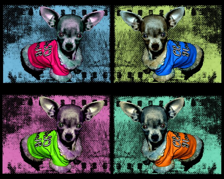 Chihuahua dogs - Looney art