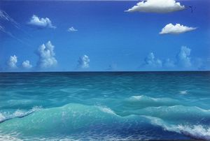 peaceful wave in open sea
