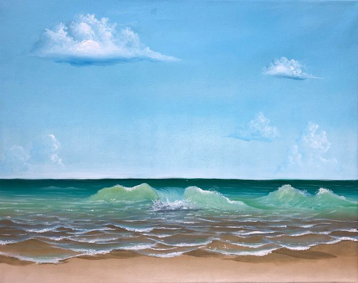 waves on the beach - Diego Arellano Fine Arts